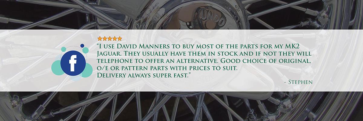 David Manners Test Parts For Jaguar Daimler Cars