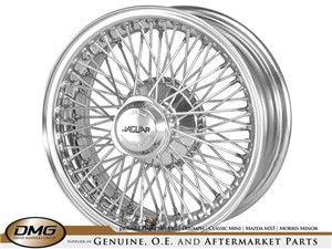 CHROME WIRE WHEEL   V12 E-TYPE 15""